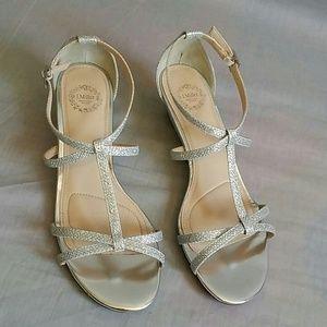 I. Miller Sandals Metallic Silver Size 6.5 M